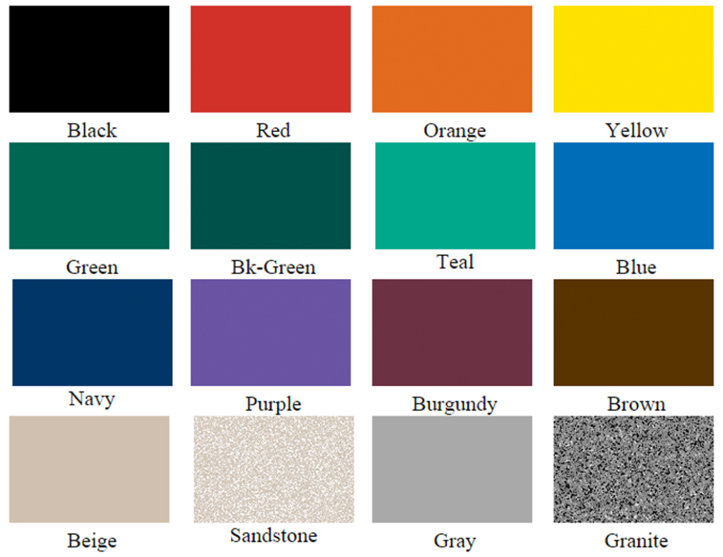 Buddy Bench Colors available at Recreation Today